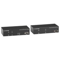 KVX Series KVM Extender over CATx - Dual-Head, DVI-I, USB 2.0, Serial, Audio, Local Video